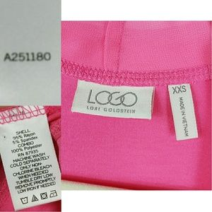 LOGO by Lori Goldstein Tops - LOGO Laurie Goldstein Hot Pink Duster XXS